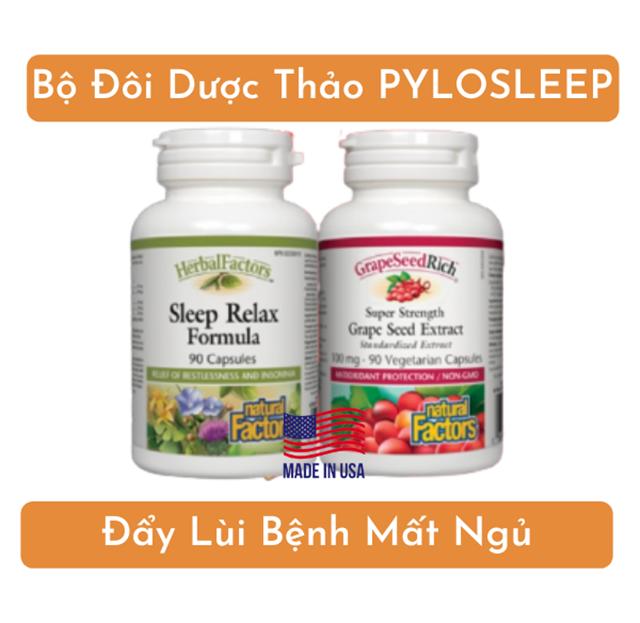 Bộ đôi Dược thảo PyLoSleep từ Mỹ giúp đẩy lùi bệnh mất ngủ